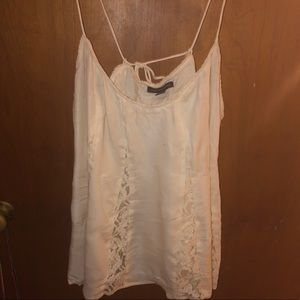 American Eagle lace cut out tank top